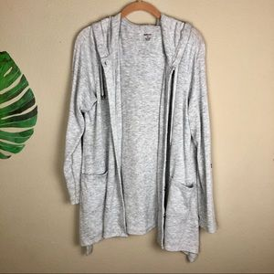 Style & Co gray Hooded Cardigan w/pockets ( XL )